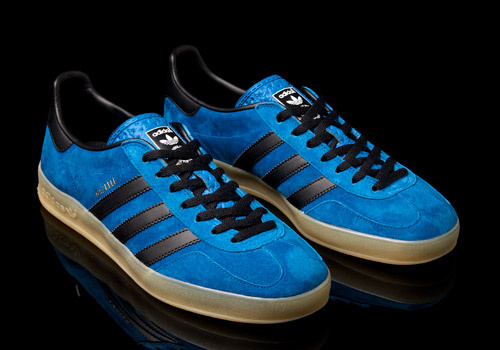 adidas gazelle indoor blue and black